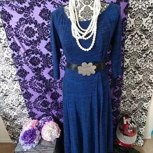 Blue and black dress size Large
